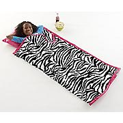 Personalized Zebra Sleeping Bag & Tote Set
