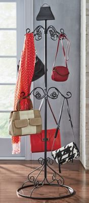 scroll purse rack