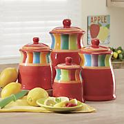 4-Piece Rainbow Stripe Canister Set