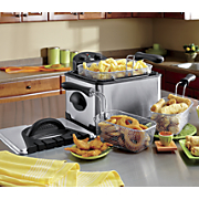 4-Quart 3-Basket Deep Fryer by Elite