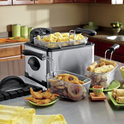 4-Quart 3-Basket Deep Fryer by Elite