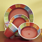 Hand-Painted Rainbow 16-Piece Dinnerware Set