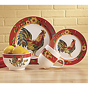 16-Piece Sunrise Sunflower Dinnerware Set