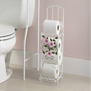 rose garden bathroom tissue holder