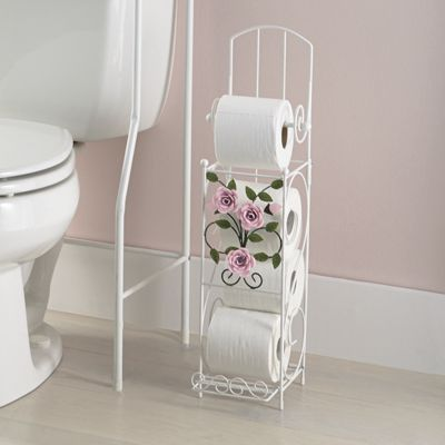 Rose Garden Bathroom Tissue Holder