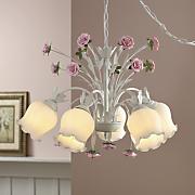 blushing rose pendant lamp