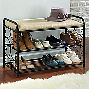 scroll shoe bench