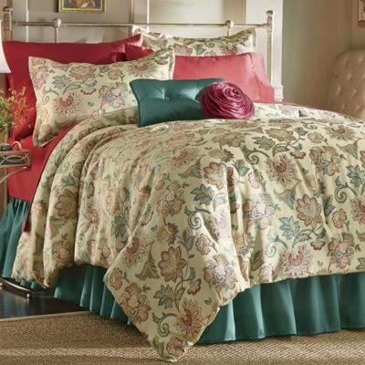 Lombardy Comforter Set, Pillow and Window Treatments