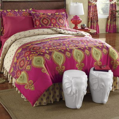 Deema Comforter Set and Window Treatments