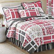 bridgeport quilt bedskirt sham and panel pair