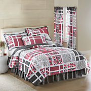 bridgeport quilt bedskirt sham and panel pair