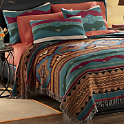 river canyon tapestry coverlet and sham