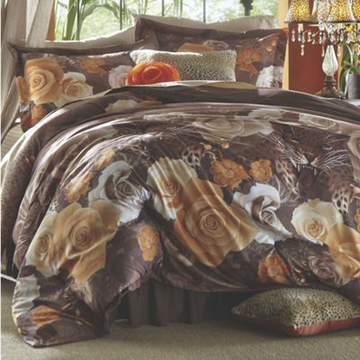 Exotica Comforter Set, Pillow and Window Treatments