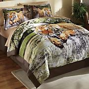 Tiger Run Comforter Set