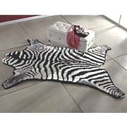 zebra faux fur rug