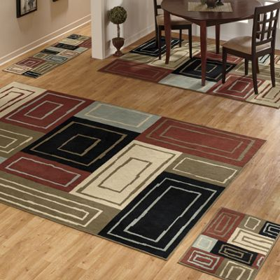 4-Piece Mod Block Rug Set
