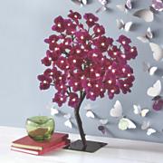 lighted purple tree