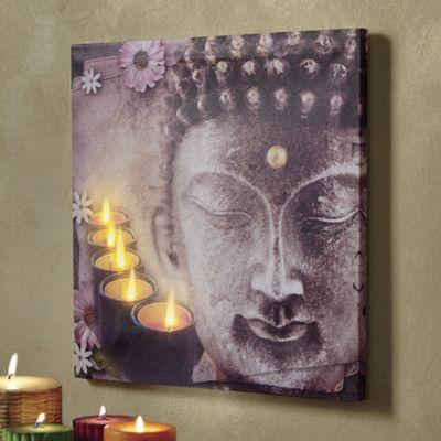 Lighted Buddha Art from Midnight Velvet 716694