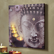 lighted buddha art