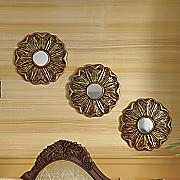 3 piece flower in repose mirror set