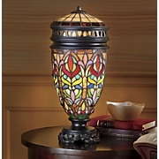 lighted stained glass vase