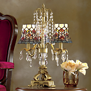 stained glass chandelier table lamp