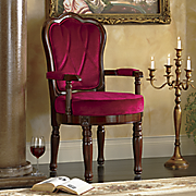 Red Tufted Juliet Arm Chair