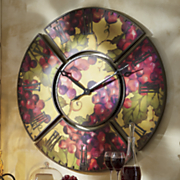 5 piece grape big wall clock