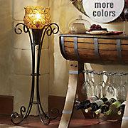 galliana captured glass floor lamp