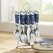 20 pc hanging stainless steel flatware set
