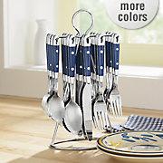 20 pc hanging stainless steel flatware set