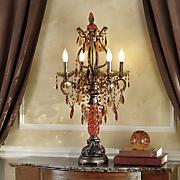 Golden Amber Crystal Lamp