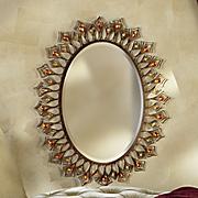 jeweled amber mirror