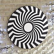 black spiral mirror