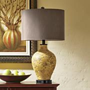 Golden Botanical Lamp