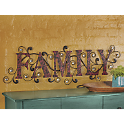 scrolled family wall art