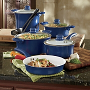 11-Piece Aluminum Cookware Set with Nonstick Ceramic Coating