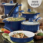 11 piece aluminum cookware set with nonstick ceramic coating