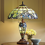 Firefly Glen Double-Lighted Stained Glass Lamp