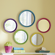 5 piece bright colorful mirror set
