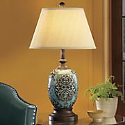 Teal Ceramic Lamp