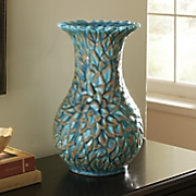 blue lotus ceramic vase