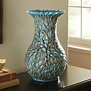 blue lotus ceramic vase
