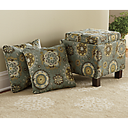 reversible tabletop storage ottoman and pillows