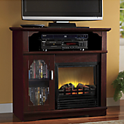 Media Storage Electric Fireplace