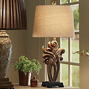 Brushed Scroll Table Lamp
