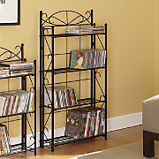 blackjack scroll 4 shelf media rack