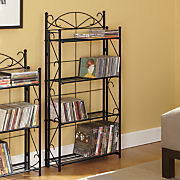 Blackjack Scroll 4-Shelf Media Rack