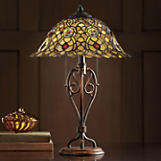 Amber Rose Stained Glass Lamp