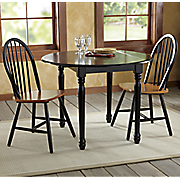 Farmhouse Drop-Leaf Table & Arrowback Chairs